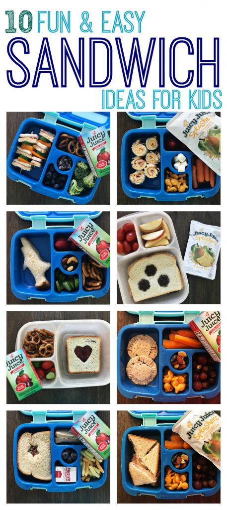 10 Fun & Easy Sandwich Ideas for Kids    The Chirping Moms. School Lunchbox Ideas for Kids.