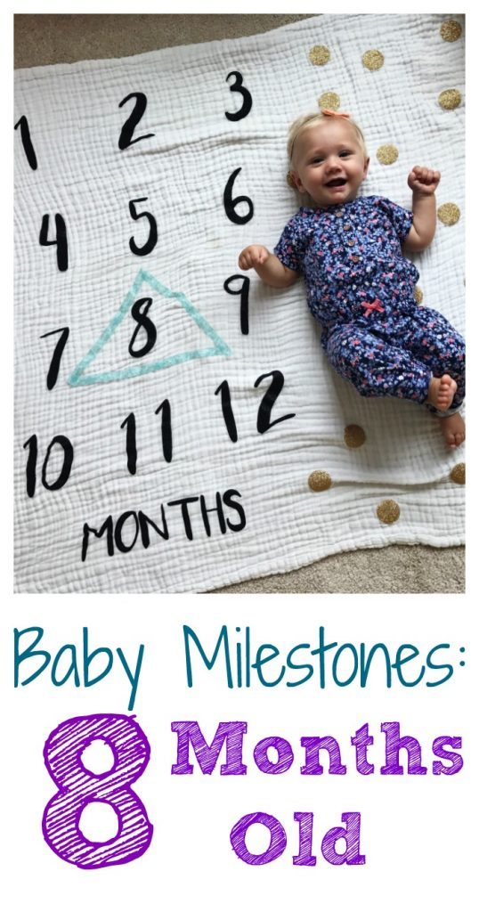 8 Month Old Milestones & Favorites || The Chirping Moms. #babymilestones #babyfavorites