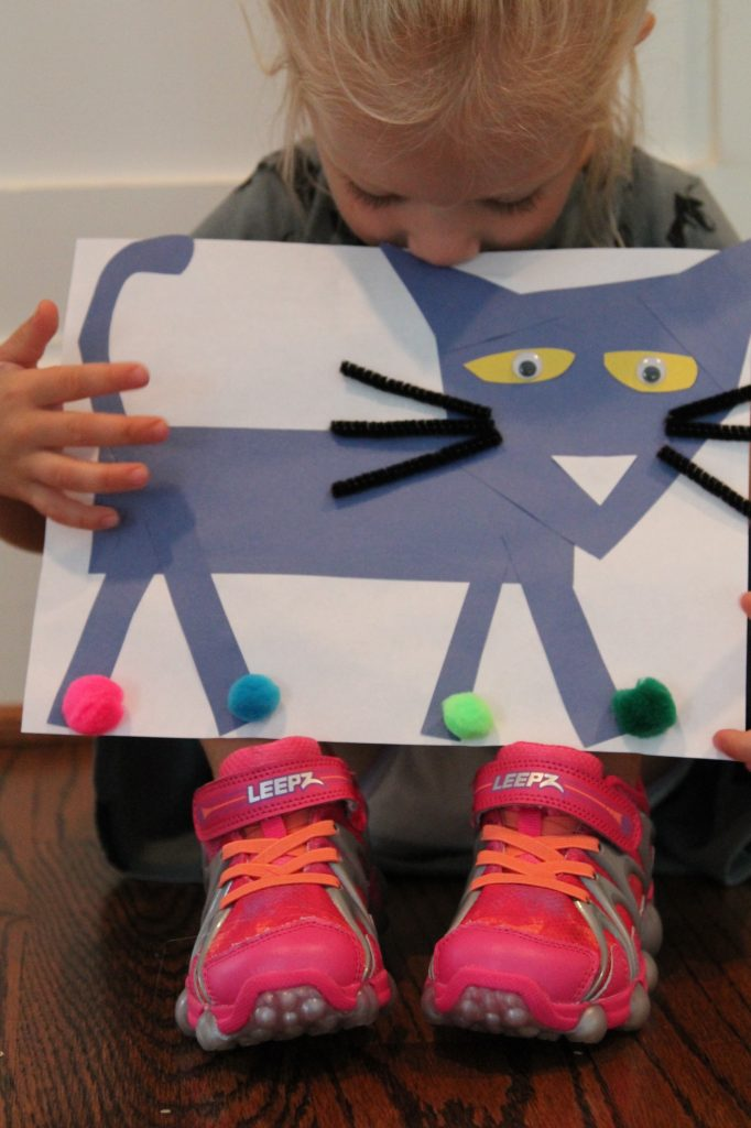 Pete the Cat Craft for Kids. Pete the Cat Rocking In My School Shoes || The Chirping Moms