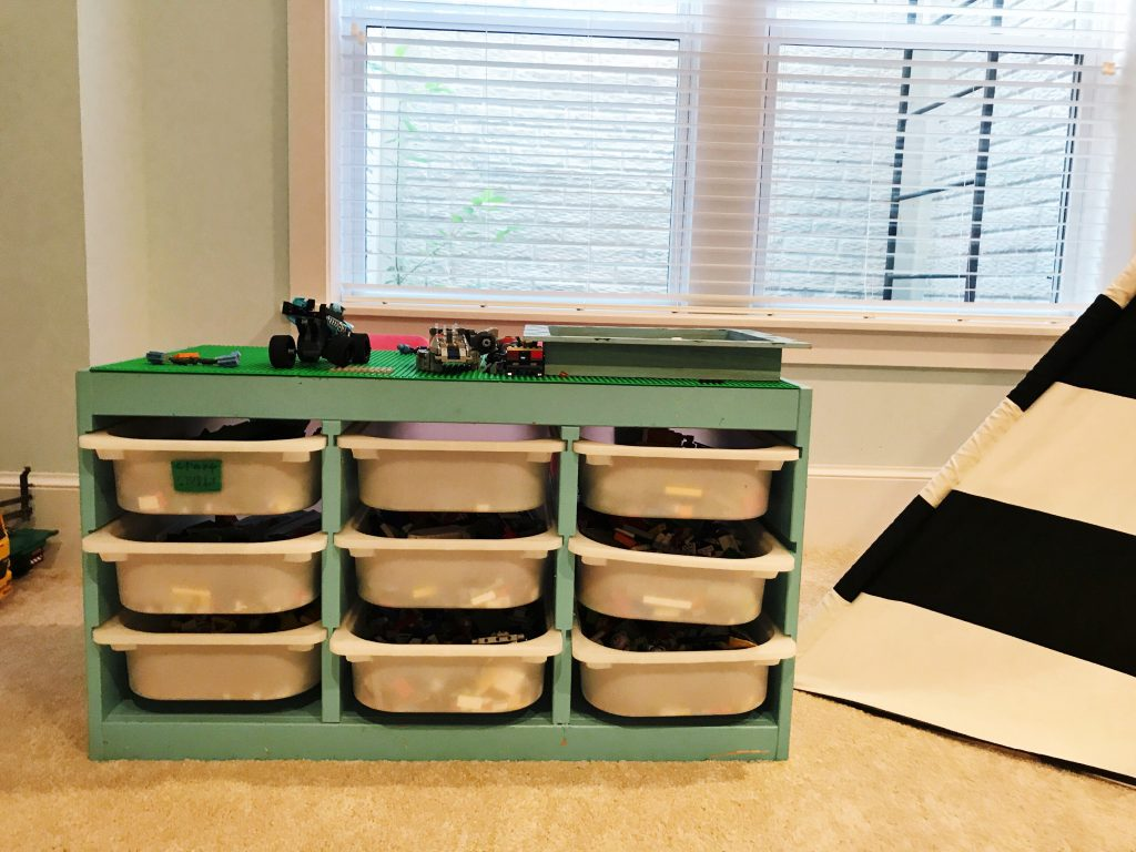 Playroom storage systems -  Love To Build Legos As They Have Gotten Older And Aged Out Of Some Of The Other Toys This Gives Them Something To Still Play In The Playroom