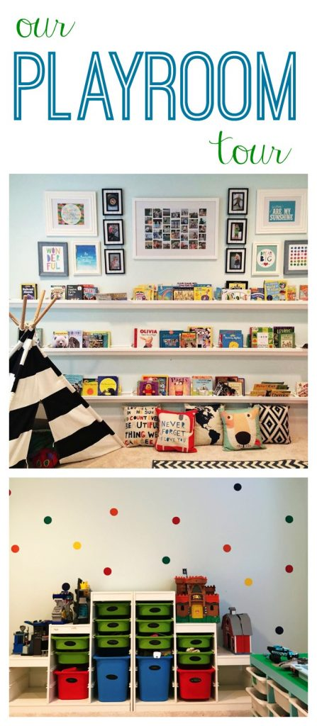 Our Playroom Tour. Playroom Ideas & Inspiration || The Chirping Moms #playroom