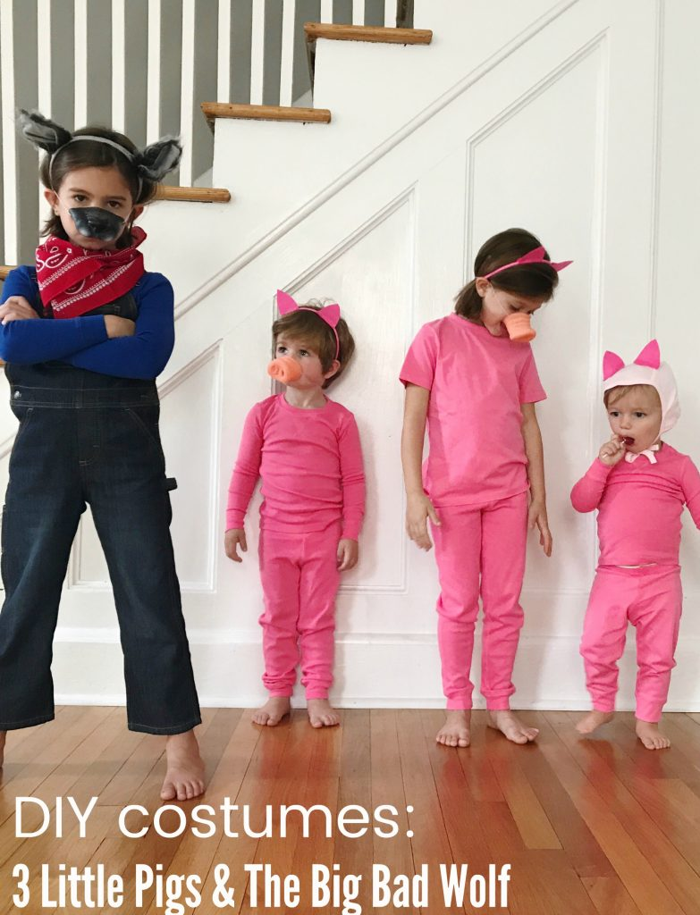 Disclosure This is not a sponsored post but we did partner with Primary.com this Halloween season to work on creating costumes. All costume ideas are my ...  sc 1 st  The Chirping Moms & Easy DIY Group Costume: 3 Little Pigs and The Big Bad Wolf