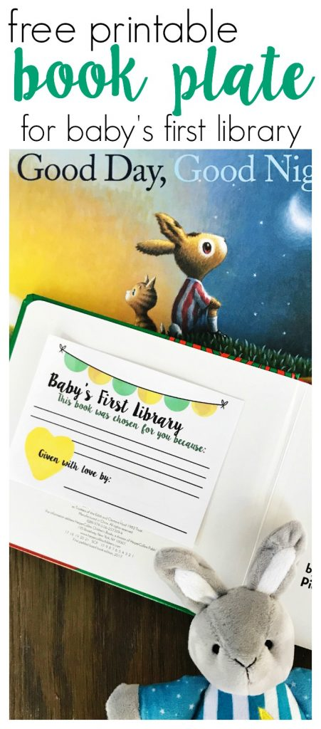 Baby's First Library Book Plate (Free Printable) || The Chirping Moms #babyshower #bookplate