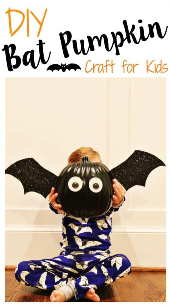 DIY Bat Pumpkin Craft || The Chirping Moms
