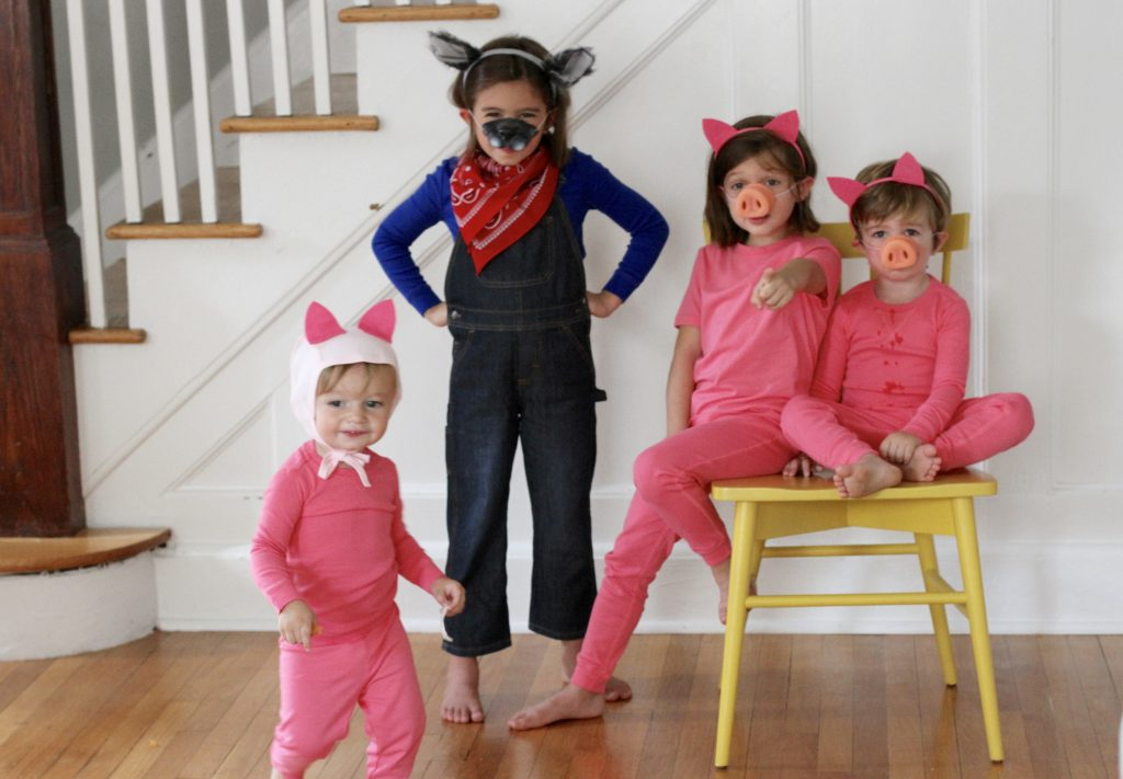 I was trying to think of fun group costumes for friends or siblings this Halloween and decided to make easy Three Little Pigs and The Big Bad Wolf DIY ...  sc 1 st  The Chirping Moms & Easy DIY Group Costume: 3 Little Pigs and The Big Bad Wolf