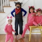 Easy DIY Group Costume: 3 Little Pigs and The Big Bad Wolf