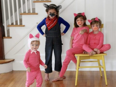 Kids Size Three Little Pigs Style Costume