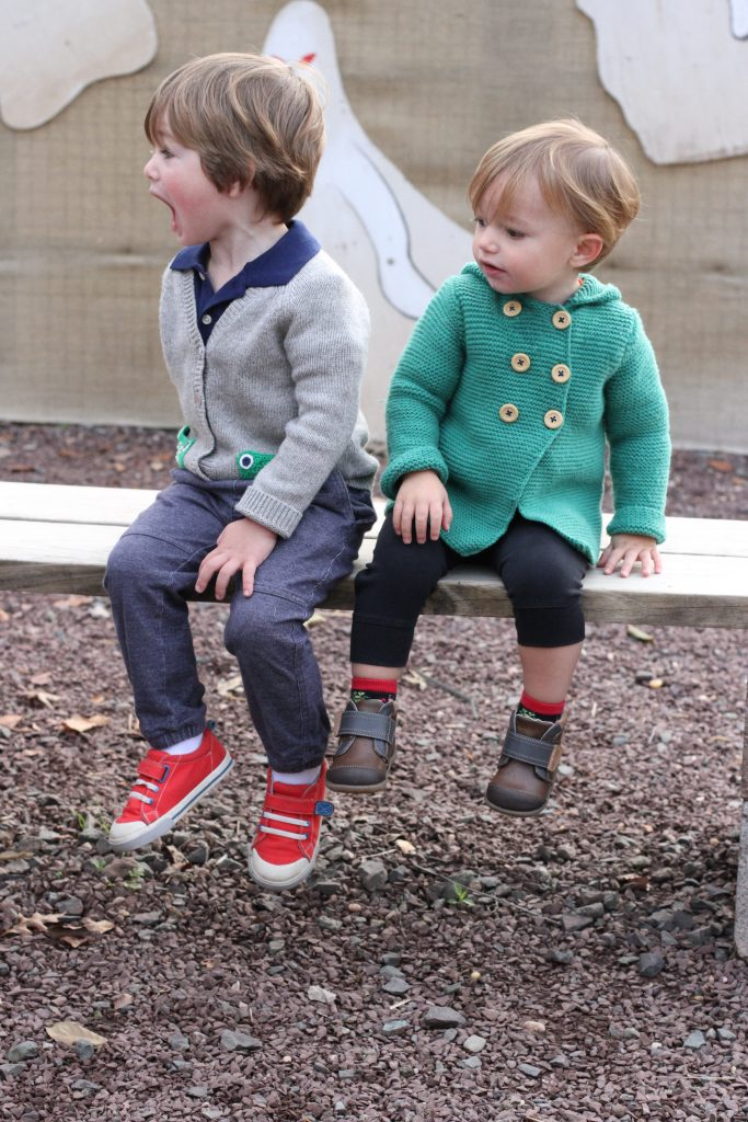 boys in fall outfits and shoes