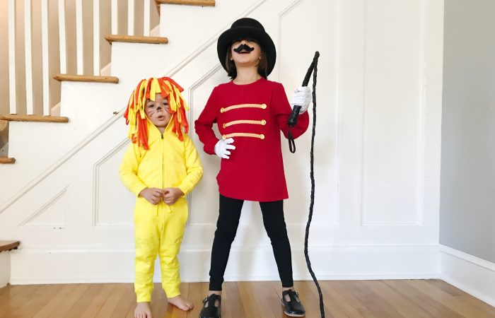 DIY Halloween Costumes: A Lion Tamer and Lion