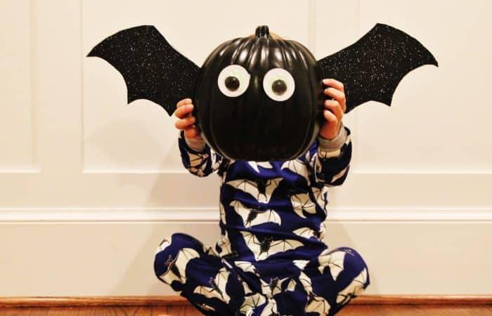 DIY Bat Pumpkin Craft (& Mini Boden Halloween)