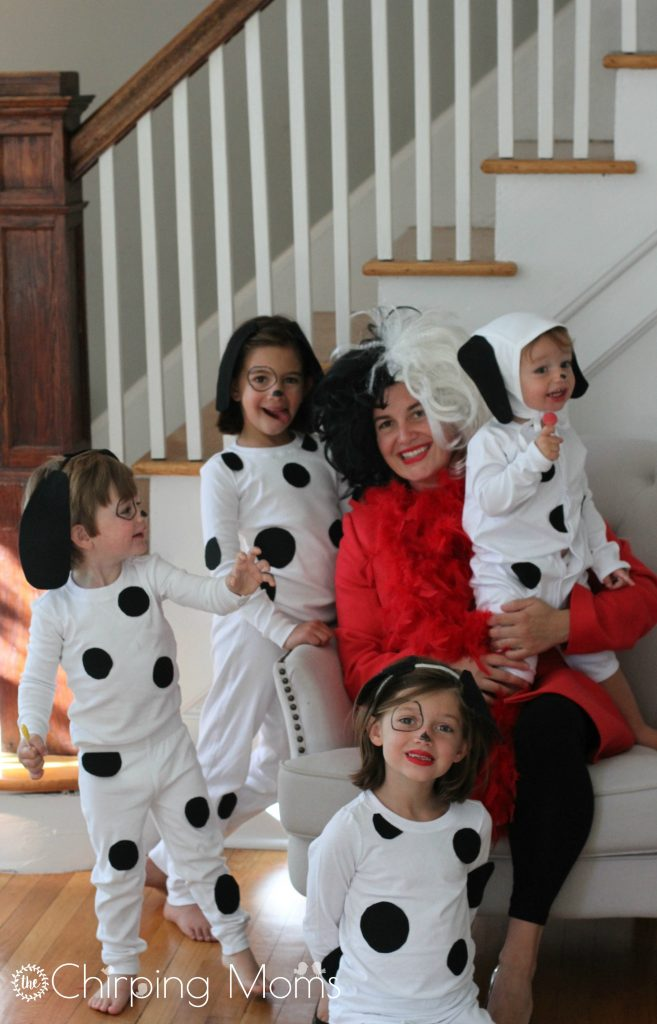 Then I realized we have never done a DIY costume that involves momu2026.and maybe I was a little jealous of all the fun dressing up the past few daysu2026  sc 1 st  The Chirping Moms & Easy DIY 101 Dalmatians Costumes for Kids u0026 Cruella for Mom
