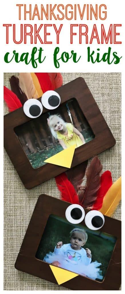 Turkey Frame Craft for Kids || The Chirping Moms #thanksgivingcraft