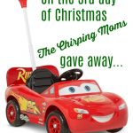 The 12 Days of Toys: Day 3, Lightening McQueen Ride On