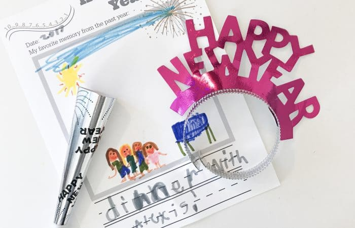 New Year's Eve Activity for Kids: FREE Printable
