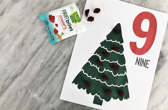 Printable Christmas Tree Counting Pages