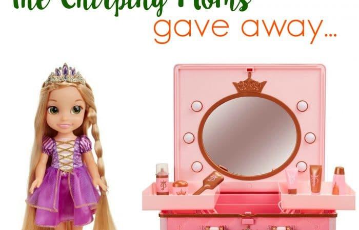 The 12 Days of Toys, Day 11: Disney Princess Vanity & Glow N' Style Rapunzel
