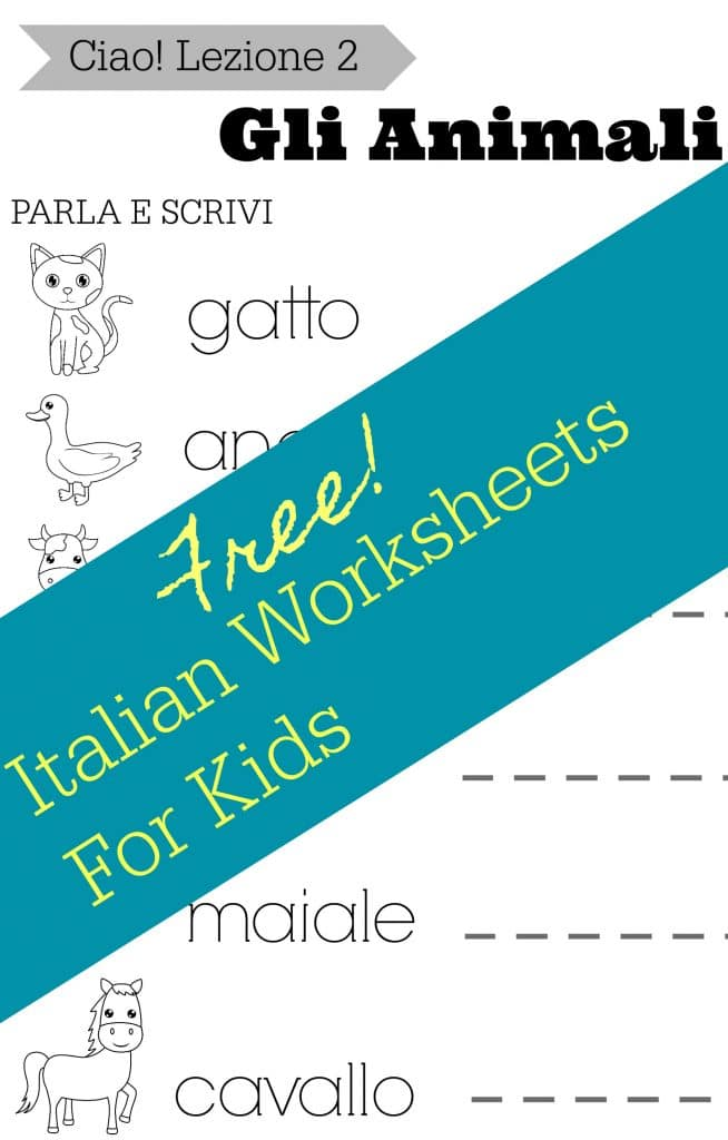 Simple Italian Lessons for Kids: Lezione 2 - Gli Animali