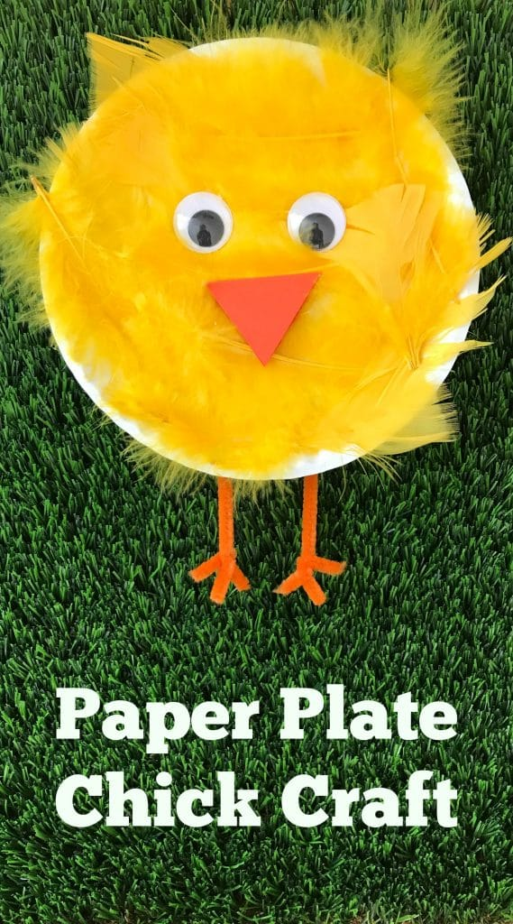 Pin this craft for later!  sc 1 st  The Chirping Moms & Easy Spring Craft: Paper Plate Chick Craft - The Chirping Moms
