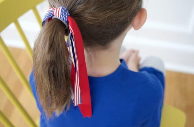 Firecracker Hair Ties: Easy DIY Patriotic Hair Bows