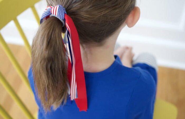 Firecracker Hair Ties: Easy DIY Patriotic Hair Bows