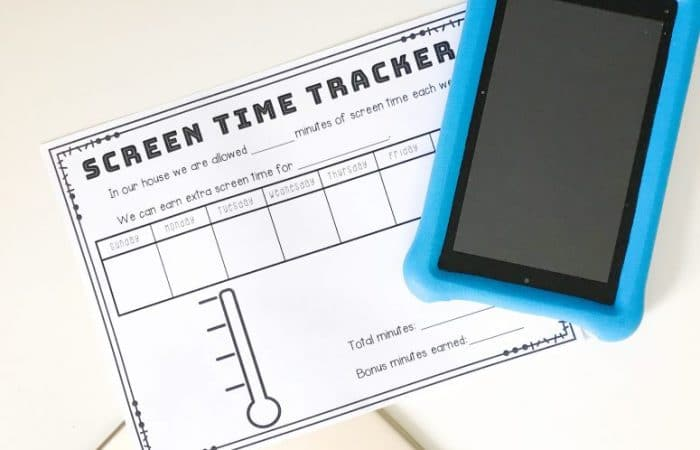 Managing Screen Time for Kids: Free Printable for Tracking Screen Time
