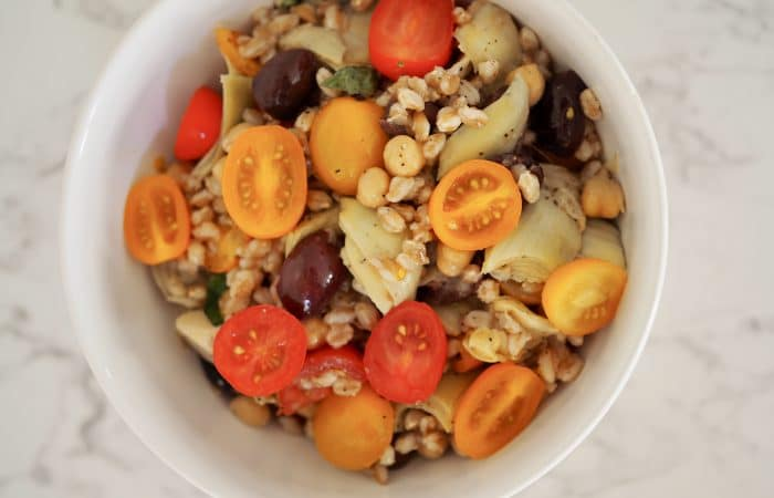 Tomato and Olive Farro Salad