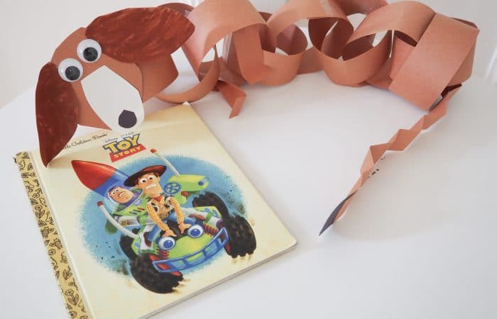 Slinky Dog Paper Chain: An Easy Toy Story Craft