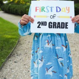 Free Printable First Day of School Signs: All Grades!
