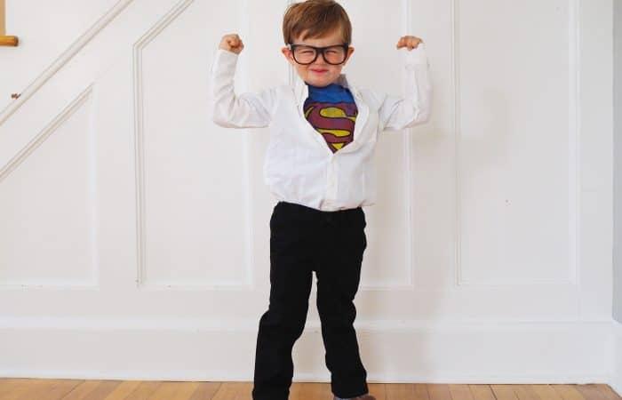 DIY Clark Kent Costume