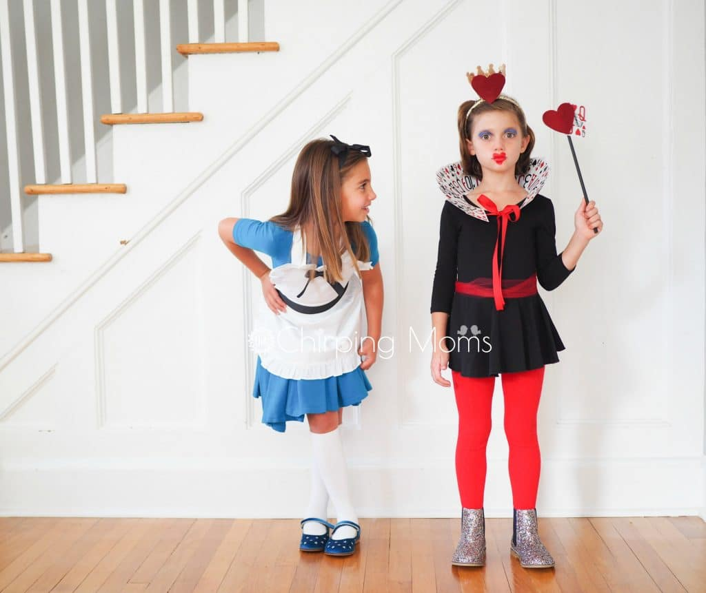 easy diy alice in wonderland & queen of hearts costumes - the