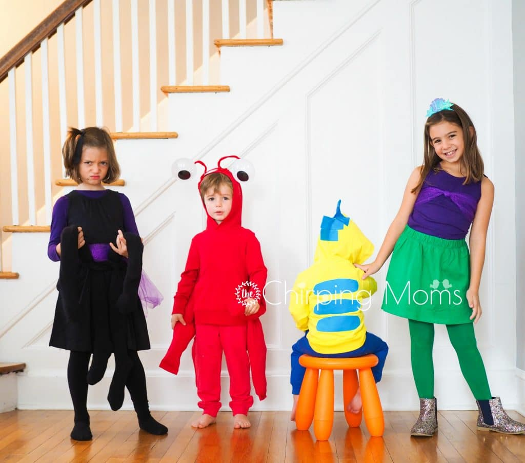 Diy Group Costume The Little Mermaid Cast The Chirping Moms