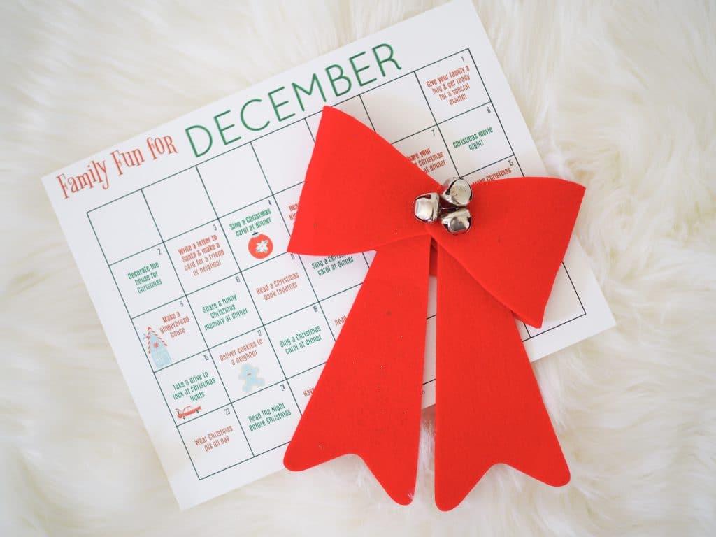 Free Printable December Family Calendar - The Chirping Moms