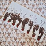 Christmas Footprint Craft: Santa's Eight Reindeer