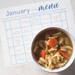 Monthly Meal Planning Calendar: January