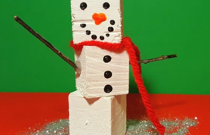 4 Fun Wood Block Christmas Crafts for Kids