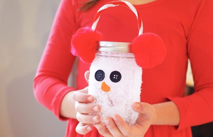 Fun Winter Craft for Kids: Snowman Luminary