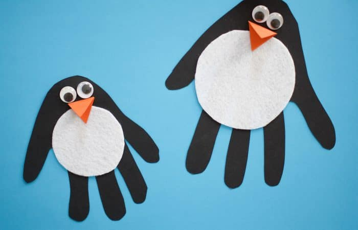 Easy Penguin Handprint Craft for Kids