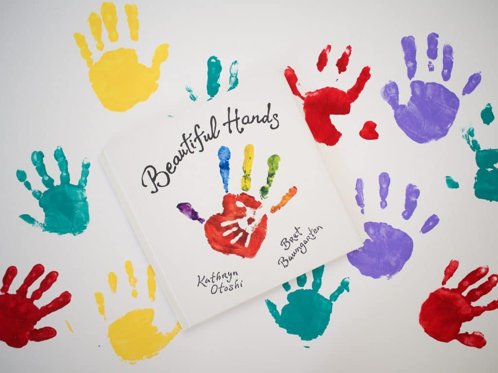 Handprints with different colors
