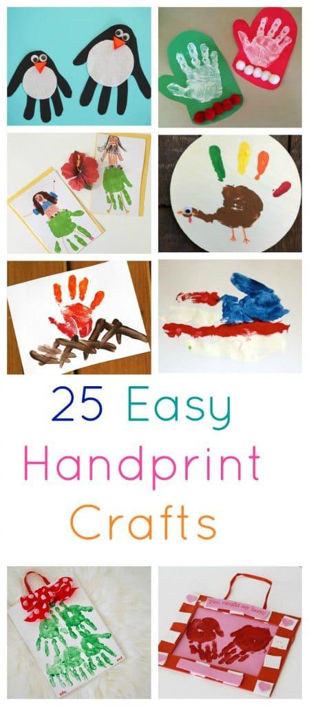 25 Easy Handprint Crafts