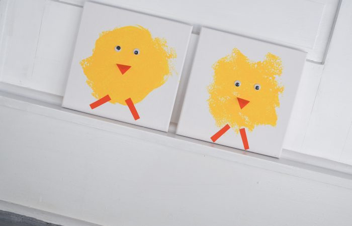 Sponge Painting Spring Chick Craft
