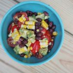 Easy Summer Salad: Avocado, Black Bean & Corn