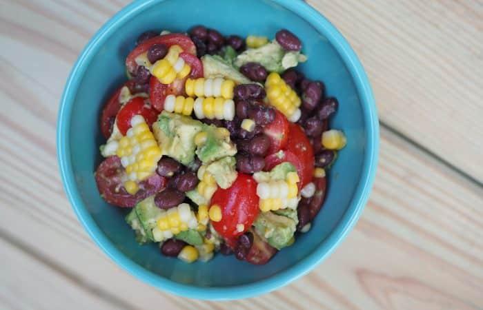 Easy Summer Salad: Avocado, Black Bean & Corn
