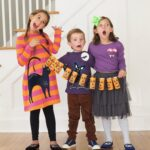 Halloween Craft: Toilet Paper Roll Jack-O-Lantern Garland