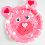 Easy Valentine's Day Craft for Kids: Paper Plate Valentine Bear