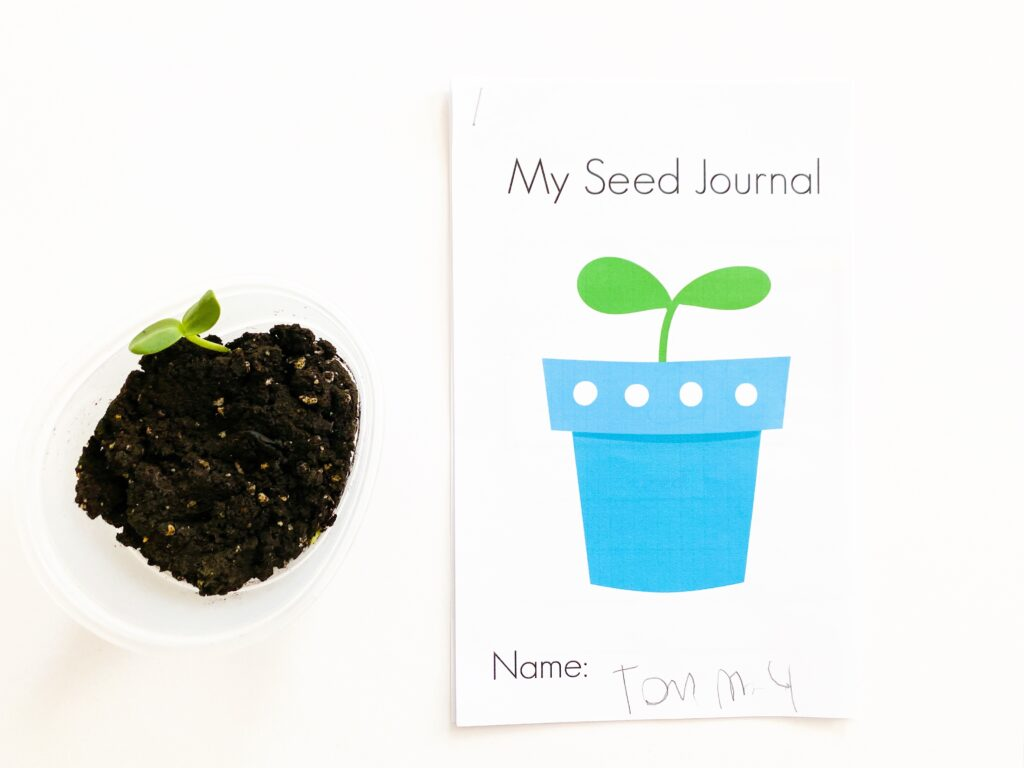seed journal for kids
