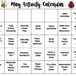 May Activity Calendar for Kids