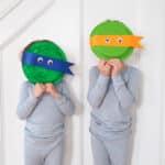 DIY Ninja Turtle Paper Plate Mask