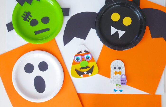 Easy Halloween Paper Plate Crafts & Craft Kits
