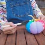 Fun Way to Decorate Pumpkins: Rainbow Painted Pumpkins