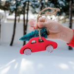 Christmas Trees on Cars:  DIY Ornament, Footprint Craft, Drawing Tutorial & More